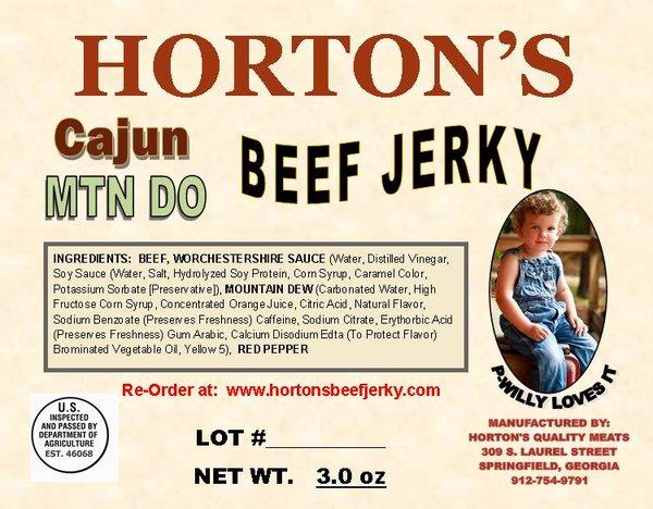 Cajun Mtn Do Beef Jerky