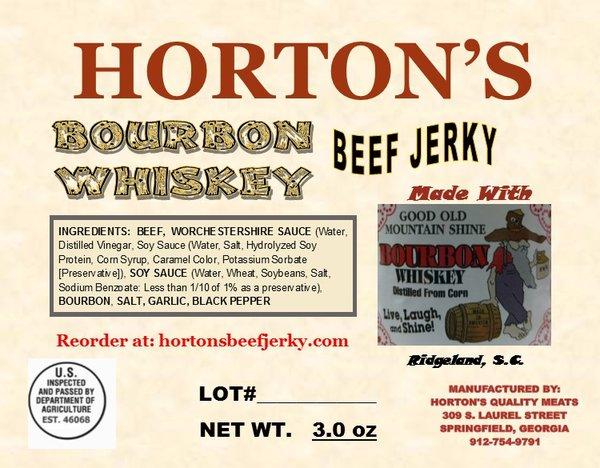 Bourbon Whiskey Beef Jerky
