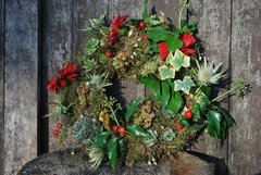 "14"" Moss-based Living Wreath with FREE delivery"