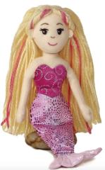 "Mini (8"") Mermaid Friend (blonde hair, pink fin)"