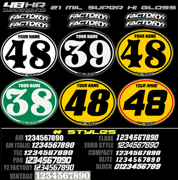 Vintage Number Plate Backgrounds Decals Only