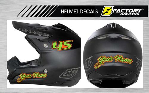 Helmet Sticker Set Style Factory Backing Mx Graphics - Motorcycle helmet designs stickers