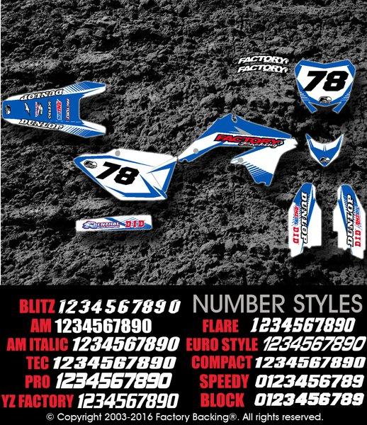 Invincible Yamaha Semi Custom Factory Backing MX Graphics