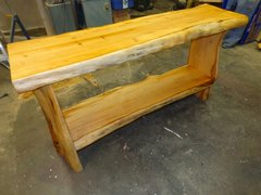Pacific Yew Wood Console Table Sold