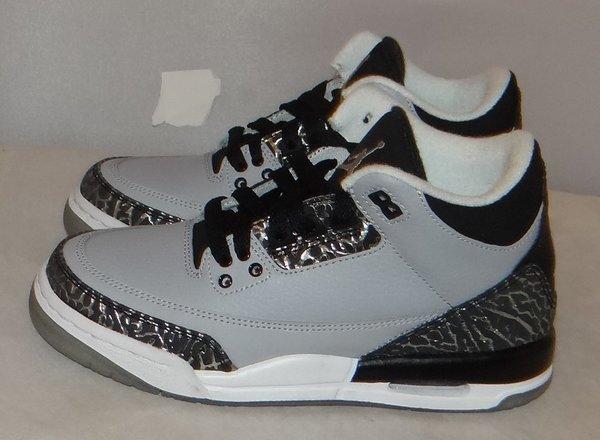 New Air Jordan 3 Grey Wolf Size 3.5 #3778