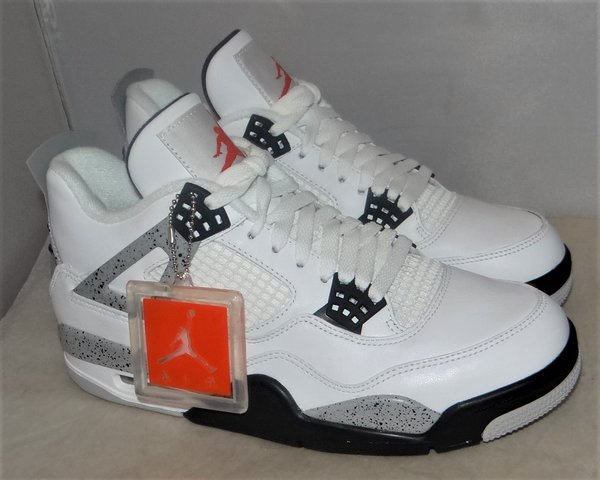 New, Tried On Air Jordan 4 White Cement Size 9 #4645 840606 192