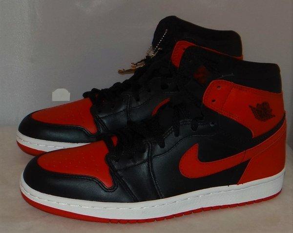New 2001 Air Jordan 1 Bred Size 9.5 136066 061 #4354
