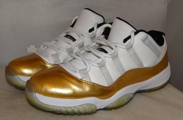 Air Jordan 11 Low Gold Size 8 528895 103 #4424