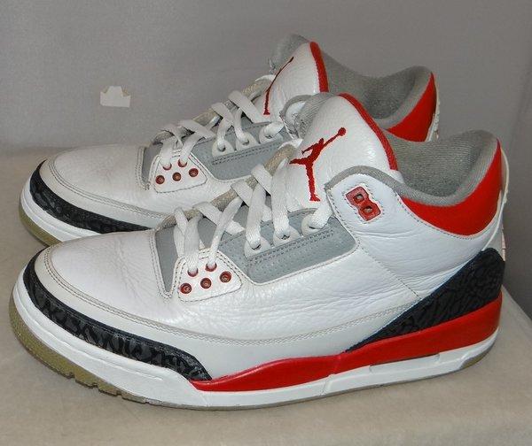 Air Jordan 3 Fire Red Size 8.5 #4325 136064 120