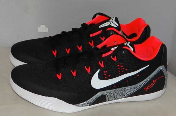 New, Tried on Kobe 9 Black Laser Size 10.5 #4526 646701 001