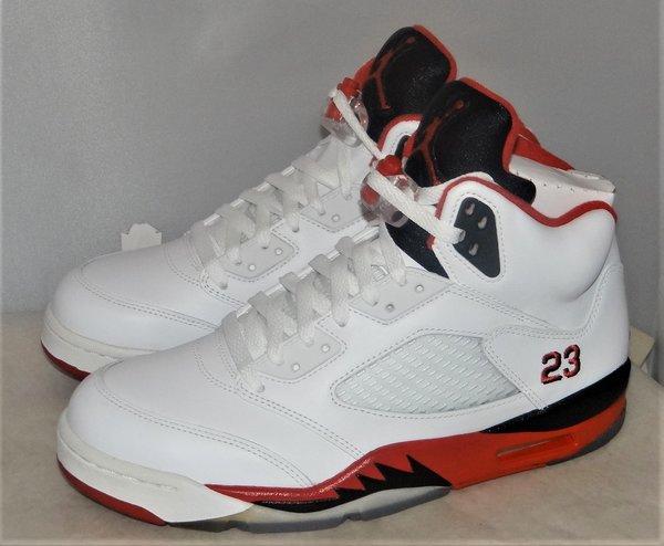 New Air Jordan 5 Fire Red Size 9 #4646 136027 120 #4646