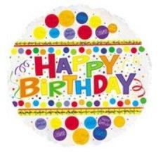 Happy Birthday Polka Dots Mylar Balloon