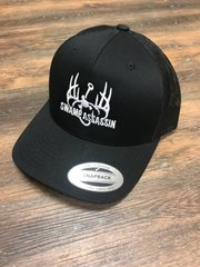 NEW BLACKOUT WITH WHITE LOGO SWAMP ASSASSIN SNAP BACK