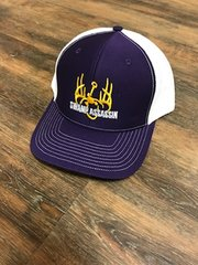 NEW PURPLE/WHITE WITH GOLD LOGO SNAPBACK