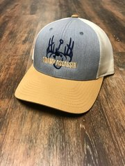 NEW GRAPHITE/WHITE/GOLD WITH NAVY & GOLD LOGO SNAPBACK