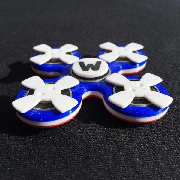 RWB quad fidget toy