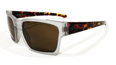 SG4-16 Sunglasses Frosted Clear-Tortoise with Brown lenses