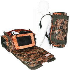 DB1-15 Duffel Bag, Camo/Orange