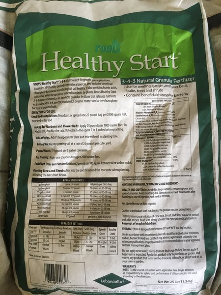 Healthy Start Fertilizer Long Island Native Plant