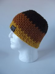 Beanie- Brown, Saffron and Yellow