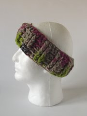 Headband- Pink, Beige and Bright Green