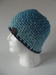 Beanie - Bright Blue and Navy