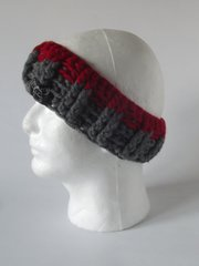Headband -Red and Grey