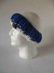 Headband - Royal Blue and White