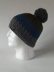Toque - Green, Blue and Grey
