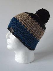 Toque- Black, Beige and Blue