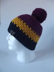 Toque - Fuchsia, Yellow and Navy