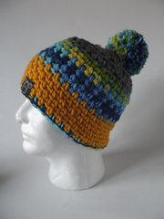 Toque - Grey, Yellow/Green/Blue mix and Yellow