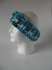 Headband - Turquoise and White mix