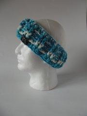 Headband - Turquoise and White mix