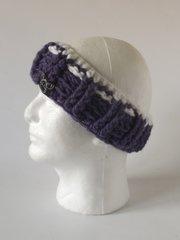 Headband - Purple and White