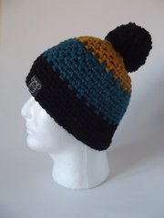 Toque - Mustard, Teal and Black