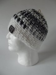 Beanie- Black, Grey and White