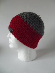 Beanie- Grey and Red