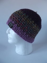 Beanie- Plum, Pink/Teal mix and Rose