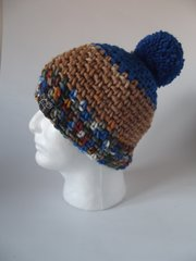 Toque - Royal Blue, Light Brown and Royal Blue mix