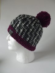 Toqu - Grey/Black/White mix and Fuchsia