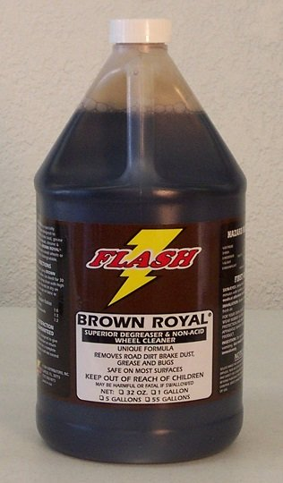 Brown Royal Non Acid Wheel Cleaner Flash Auto Detailing