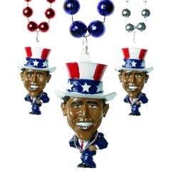 "33"" - Obama USA Beads"