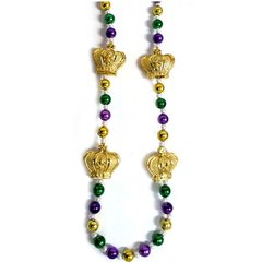 """36"""" Crowns - Purple, Green, & Gold Beads"""