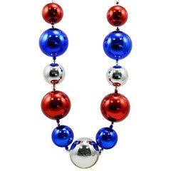 60mm-80mm Patriotic Big Balls Necklace