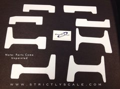 F-16 Scale Fuselage Reinforcement Plates - 1/6 Scale