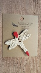 Red Dragonfly Button
