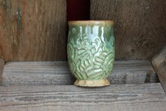 Carved Green Goblet #4