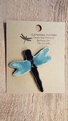 Black/blue Dragonfly Button