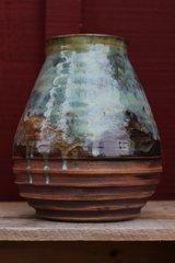 Textured landscape vase #2